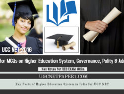 Important Key Facts of Higher Education System in India for UGC NET