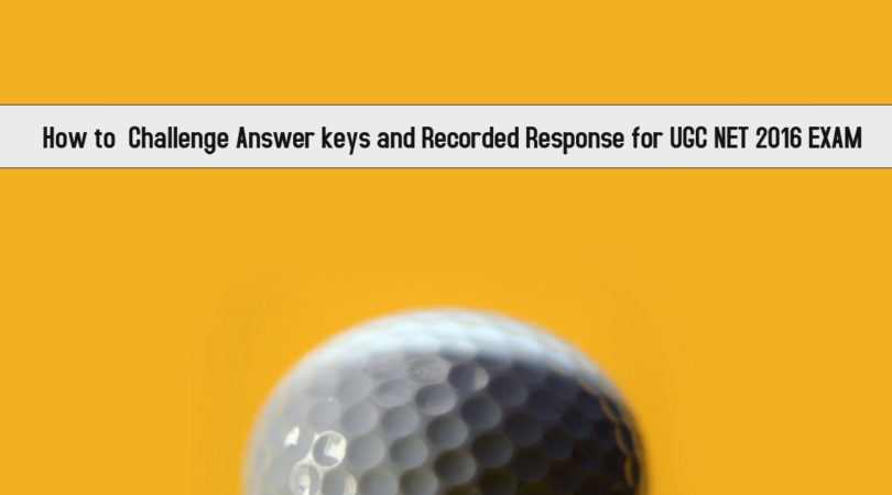 How to  Challenge Answer keys and Recorded Response