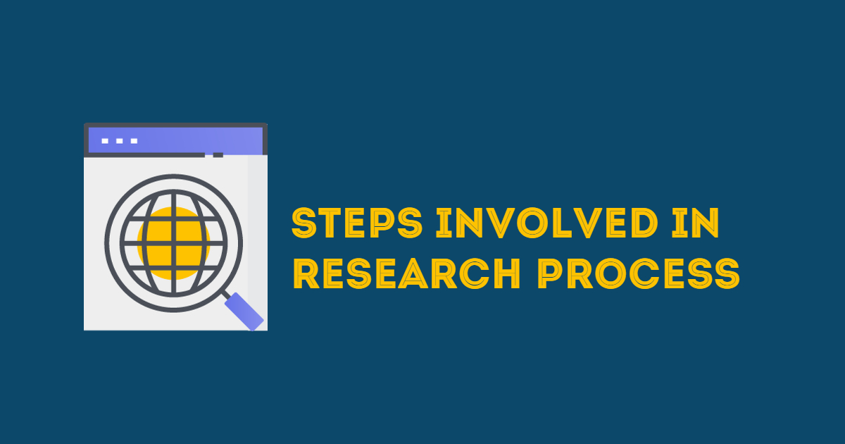 Steps Involved In Research Process Research Aptitude Notes 2020