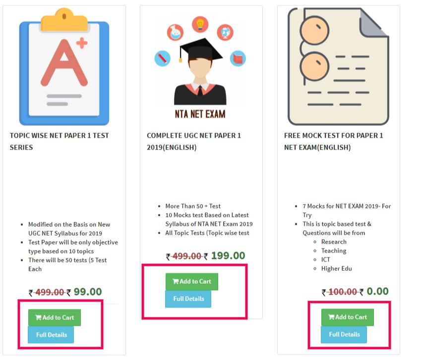 NTA UGC NET EXAM Online Test- Impressive Mock Test Series 2019