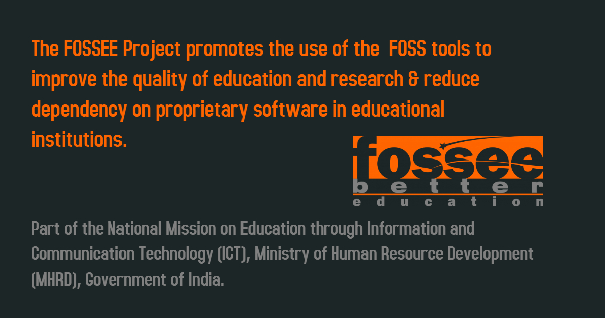 #13 The Free and Open Source Software for Education (FOSSEE)